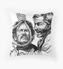 """Eli Wallach Franco Nero movie poster """"Long Live Your Death"""" western Throw Pillow"""