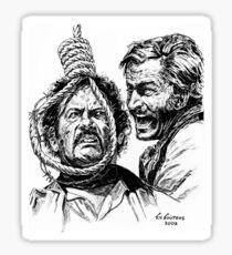 "Eli Wallach Franco Nero movie poster ""Long Live Your Death"" western Sticker"