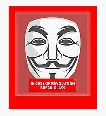 In case of revolution Photographic Print