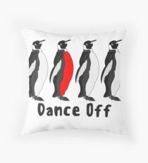 Penguin Dance Off Throw Pillow