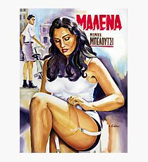 Monica Bellucci Malena movie poster painting Photographic Print