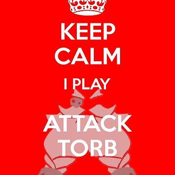 Keep Calm Attack Torb by luvusagi