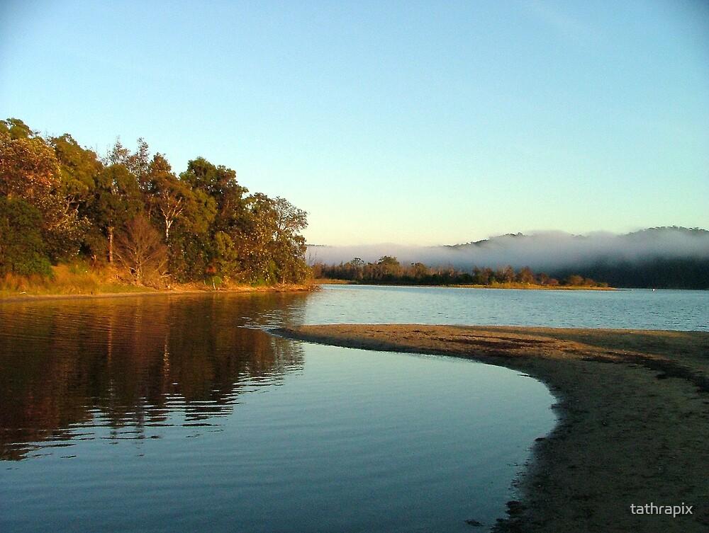 Dawn at Bega River Mouth. by tathrapix