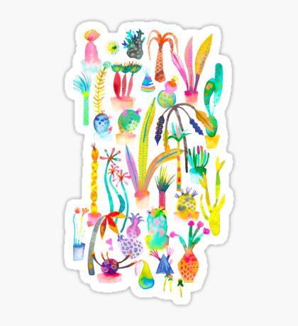 Lush and dreamy cacti garden Sticker