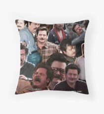 Ron Swanson - Parks and Rec Throw Pillow