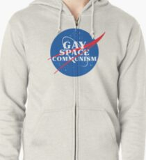 NASA Parody Gay Space Communism Zipped Hoodie