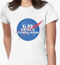 NASA Parody Gay Space Communism Women's Fitted T-Shirt