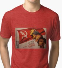 Spanish Civil War Poster - Socialist Party of Catalonia (1930s) Tri-blend T-Shirt