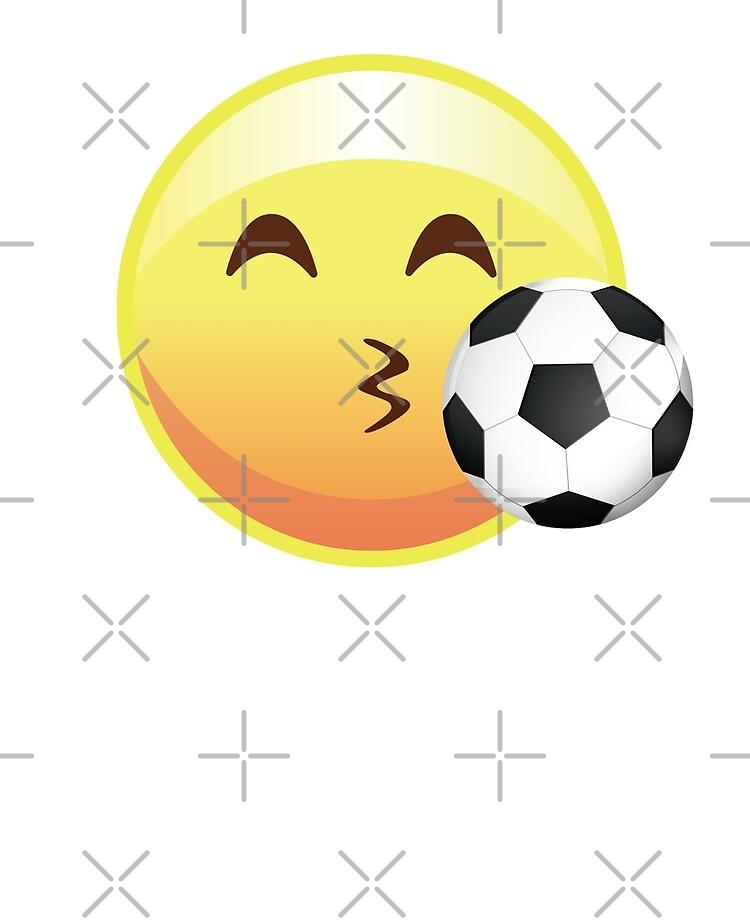 Kissy Gesichts Fussball Emoji Emoticon Lustiges Sport T Stuck T Shirt Ipad Hulle Skin