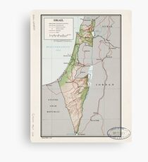 Map of Israel (1967) Canvas Print
