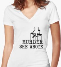 Murder she wrote Women's Fitted V-Neck T-Shirt