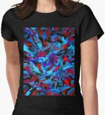 abstract, geometric, expressionist, color Women's Fitted T-Shirt