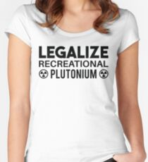 LEGALIZE RECREATIONAL PLUTONIUM BLACK  Women's Fitted Scoop T-Shirt