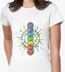 Chakra Energy  Womens Fitted T-Shirt