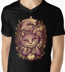 CHESHIRE CAT Men's V-Neck T-Shirt