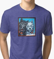 Black & white dogs Tri-blend T-Shirt