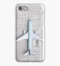 Toy Airplane Over Book iPhone Case/Skin