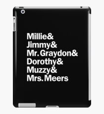 Thoroughly Modern Millie Characters | White iPad Case/Skin