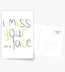 Ich vermisse dein Gesicht Postkarten