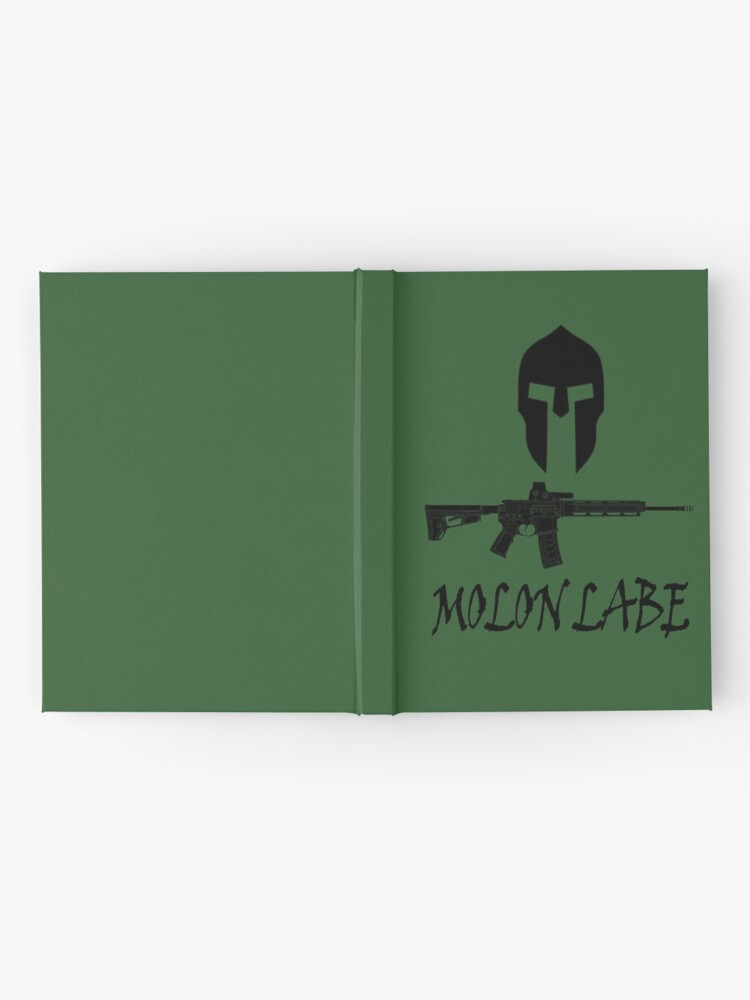 Alternate view of Molon Labe  Hardcover Journal