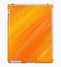 yellow and orange painted texture iPad Case/Skin