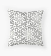 Rose marble flower Throw Pillow