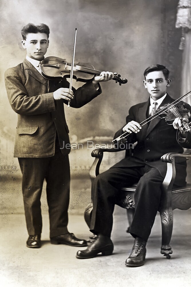 Players of violin by Jean Beaudoin
