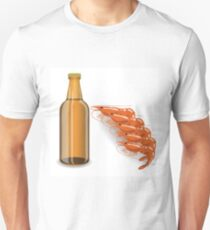 bootle of beer and shrimp T-Shirt