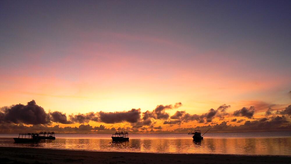 FIshing Boat Sunrise by Rowan Kanagarajah