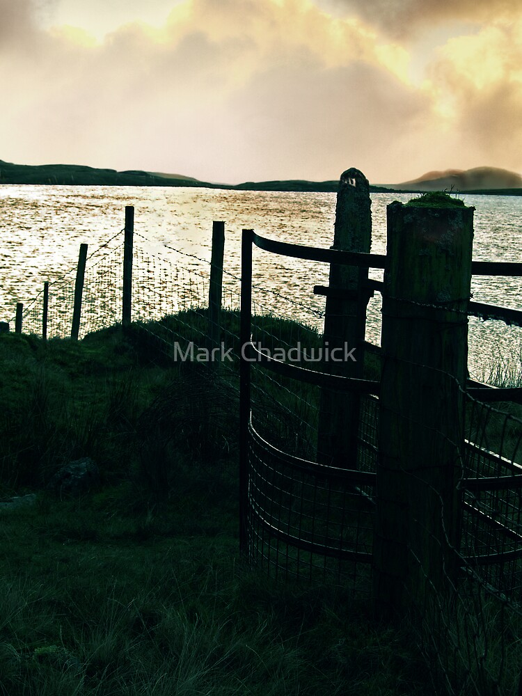 Welsh mountain lake silhouette at sunset by Mark Chadwick