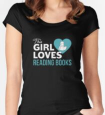 This Girl Loves Reading Books Women's Fitted Scoop T-Shirt