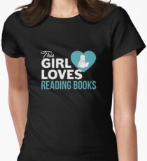 This Girl Loves Reading Books Womens Fitted T-Shirt