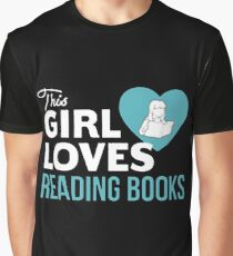 This Girl Loves Reading Books Graphic T-Shirt