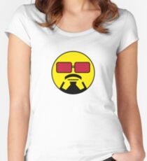 Robert Downey Jr Smiley Women's Fitted Scoop T-Shirt