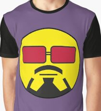 Robert Downey Jr Smiley Graphic T-Shirt
