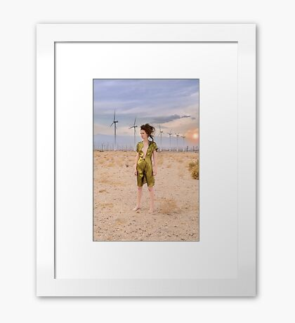 Lost in the desert Framed Print