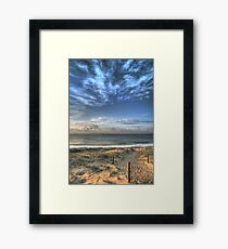 Magenta Shores  Framed Print