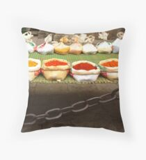 colorful spices Throw Pillow