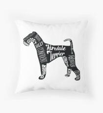 Love an Airedale Terrier Throw Pillow