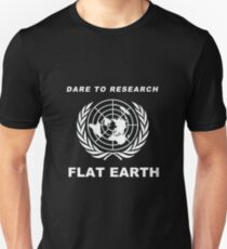 Dare to Research Flat Earth - Flat Earth Theory Map Logo Classic Unisex T-Shirt