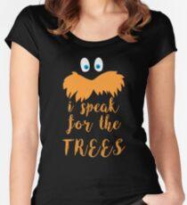 lorax speak Women's Fitted Scoop T-Shirt