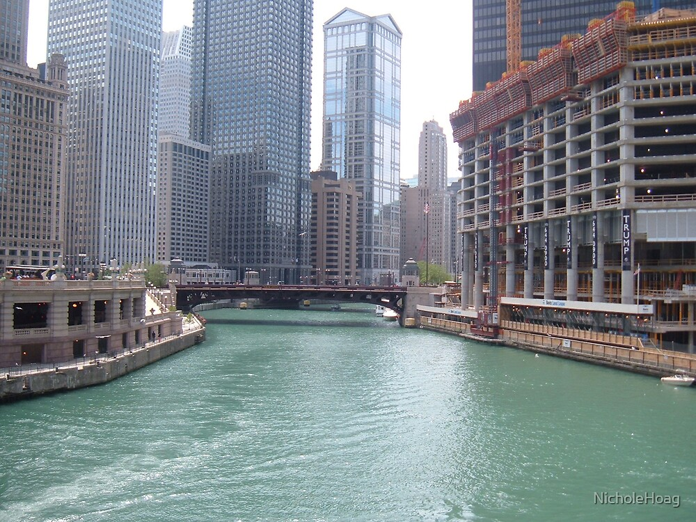 River in Chicago (color) by NicholeHoag