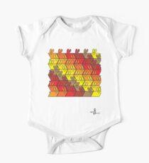 Parallelogram GeoBunnies Warm Tone Pattern Kids Clothes