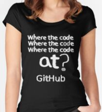 Where the code... Women's Fitted Scoop T-Shirt