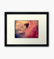 Night Time Watercolour Framed Print