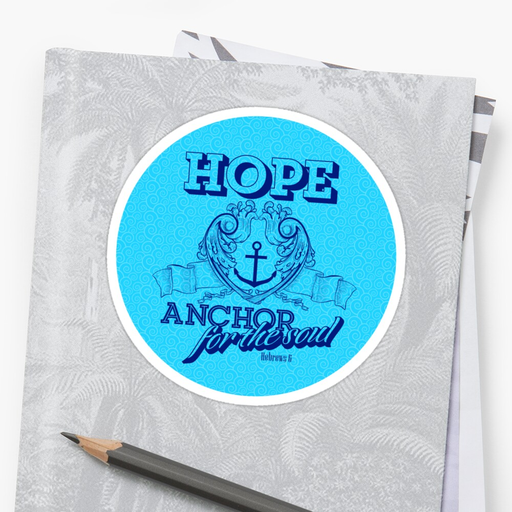 Biblical Typography Christian Symbols Hope Anchor For The Soul