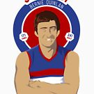 Bernie Quinlan of the Bulldogs - for white shirts by Chris Rees