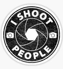 Ich erschieße Menschen Sticker