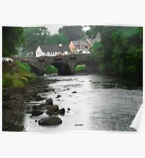 The village of Ramelton, Donegal, Ireland Poster