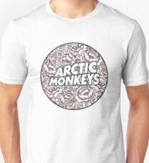 Arctic Monkeys | B&W Floral Circle Logo [white] Unisex T-Shirt